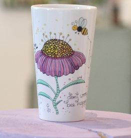 """Latte mug """"Bee Happy"""""""