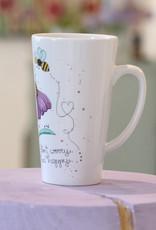 """Latte Tasse  """"Bee Happy"""""""