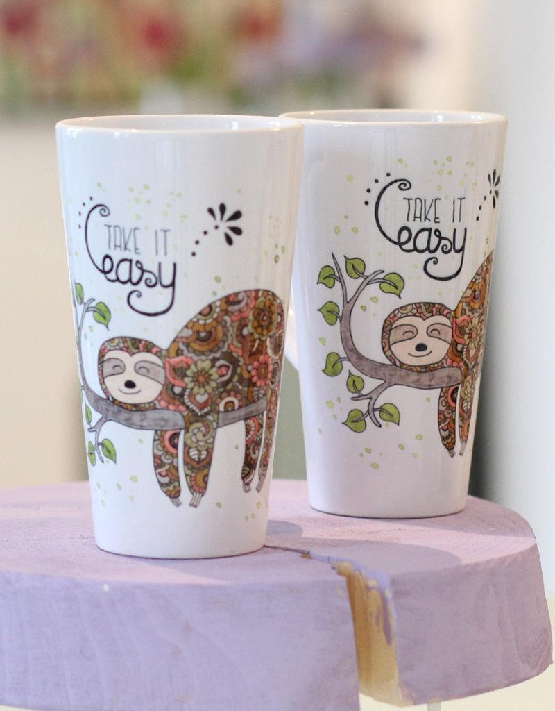 "Latte mug ""Faultier"""