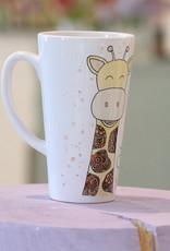 "Latte mug ""Giraffe"""