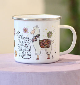 "Emaille Tasse groß ""Alpaka"""