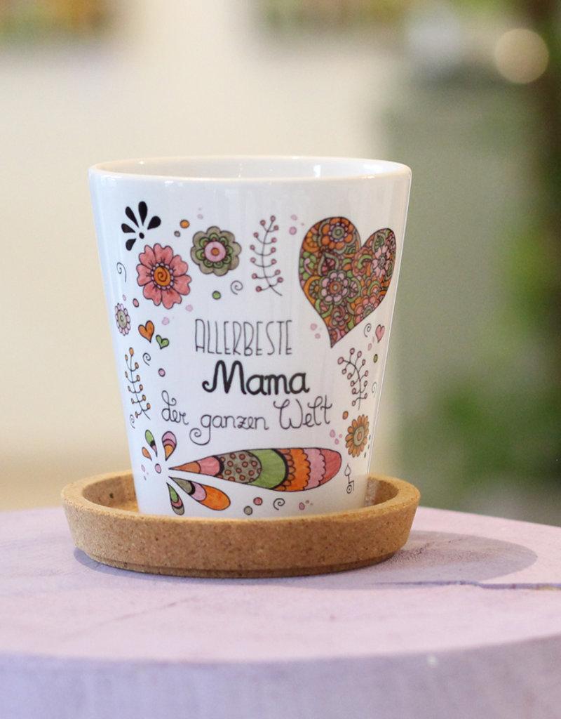 "Flowerpot ""Allerbeste Mama"""