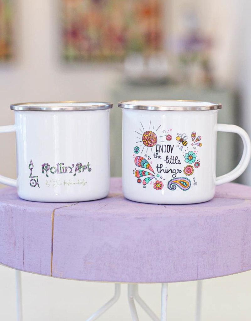 "Enamel mug ""Enjoy - Biene"""