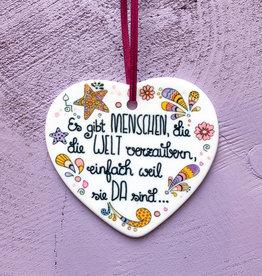 "Ceramic hanger ""Welt verzaubern"""