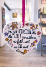 """Keramikherz """"Welt verzaubern"""""""