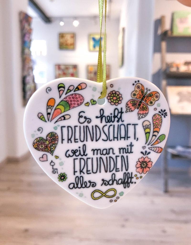 """Keramikherz """"Freundschaft"""""""