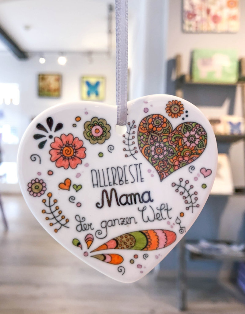 "Ceramic heart ""Glück ist... Mama"""