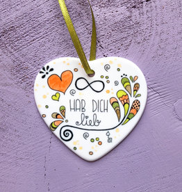 "Ceramic hanger ""love you"""