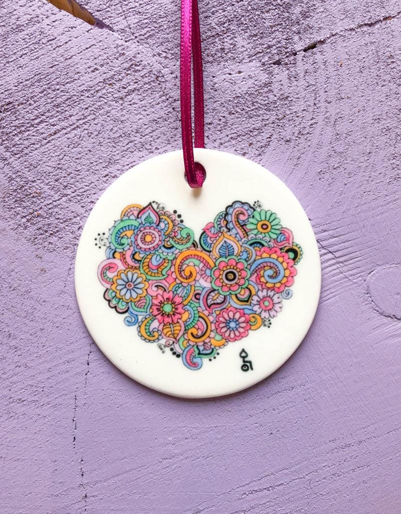 """Ceramic pendant """"heart"""""""