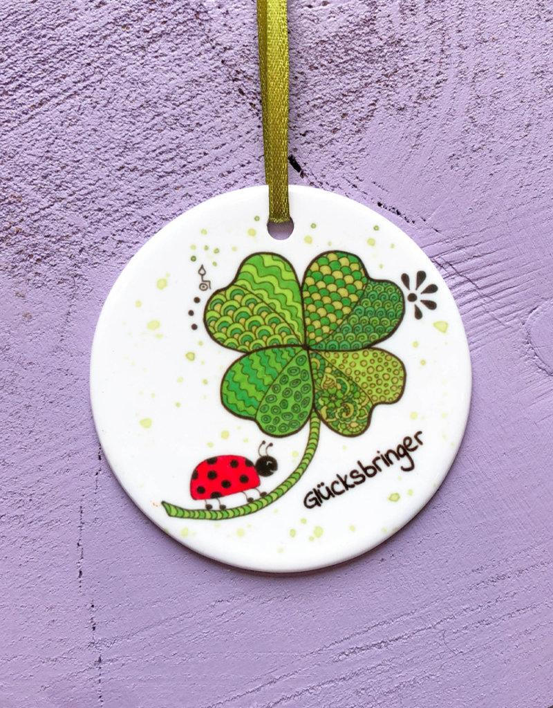 """Ceramic pendant """"luck"""""""