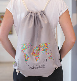 "Drawstring bag ""Wanderlust"""