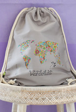 "Drawstring bag ""Wanderlust"""