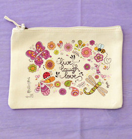 "Accessory Pouch  ""Live Laugh Love"""