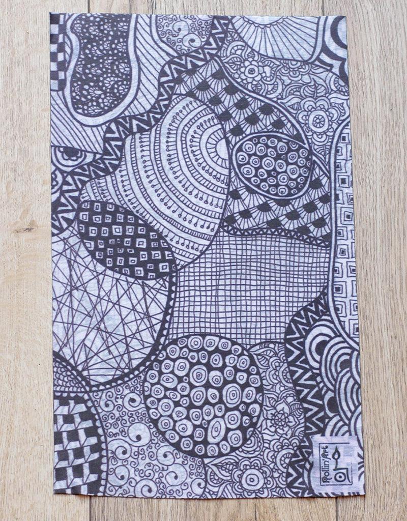 Rollin'Art Multifunktionstuch Schwarz-Weiss
