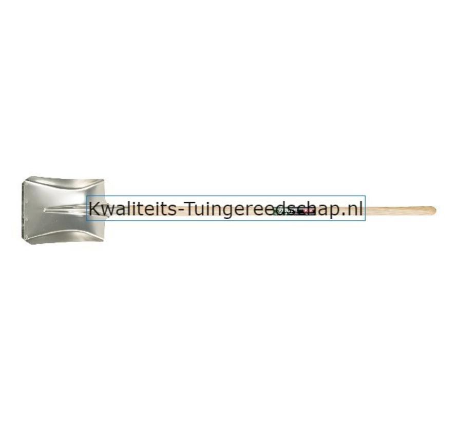 Ballastschop Aluminium 340 x 280 mm met Slijtstrip  Lange Steel