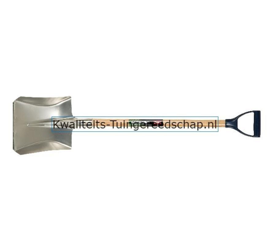 Ballastschop Aluminium 340 x 280 met Slijtstrip D-Steel