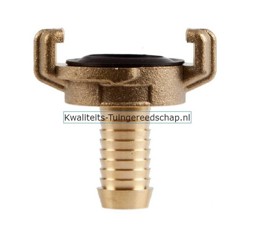 "Klauwkoppeling  Slang Kort  Messing  5/8"" 15 mm"