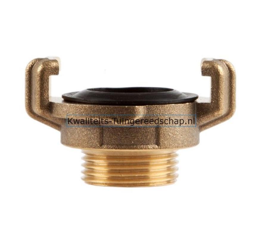 "Klauwkoppeling  Buitendraad  Messing  3/4"" 19 mm"