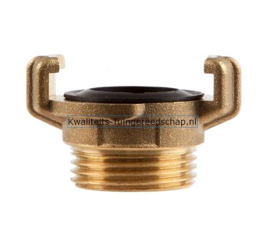"Klauwkoppeling  Buitendraad  Messing  1"" 25 mm"