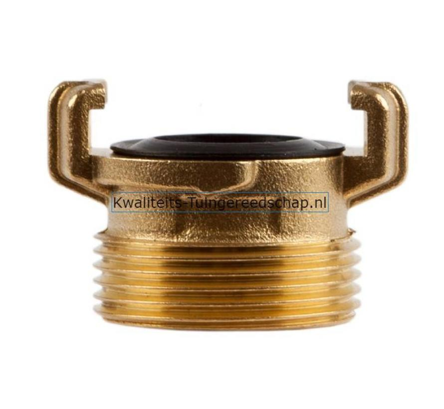 "Klauwkoppeling  Buitendraad  Messing  1 1/4"" 29 mm"