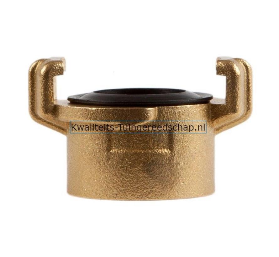 """Klauwkoppeling  Binnendraad  Messing 1"""" 25 mm"""