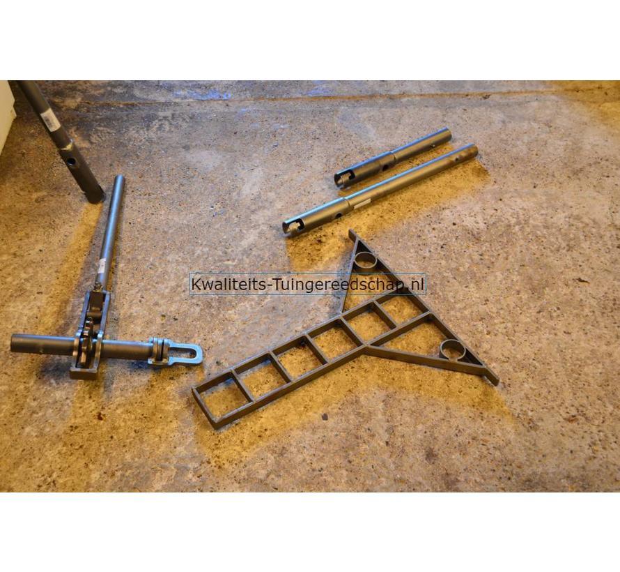 Handgesmede  Steunlat 60 cm voor  Krekelstuk
