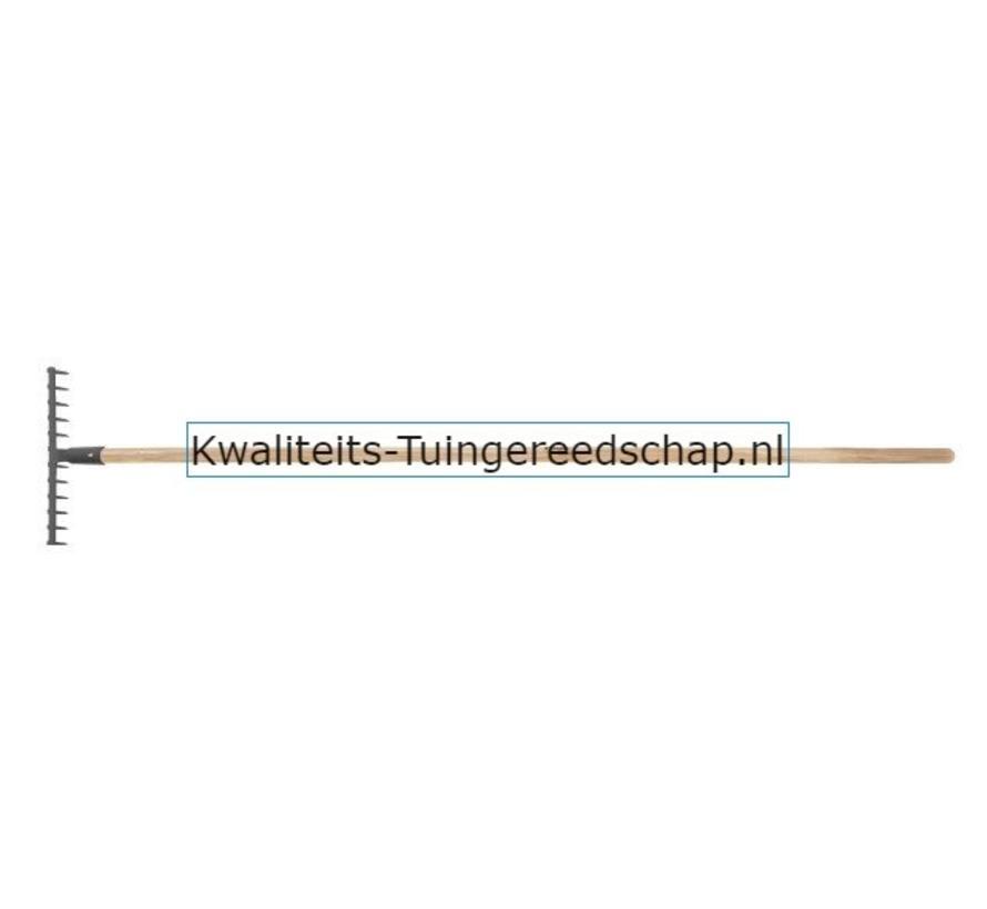 HANDGESMEDE TUINHARK 12TANDEN MET STEEL