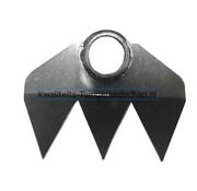Traditional Polet Handgesmede Hak 180 mm 3 Tanden