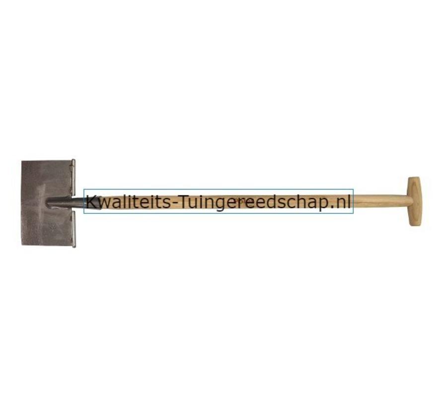 Handgesmede Schietschop / Graskantsteker Rechte Snede T-Steel