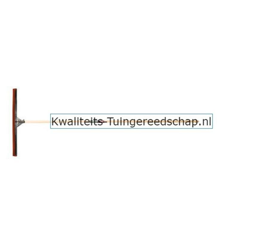 Industriële Vloertrekker 75 cm Natuurrubber Rood met Steel