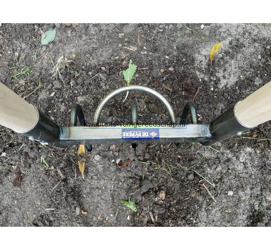 Bio Tuinvork-Grelinette 3 Gesmede Tanden met 2 Stelen