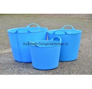 Tub-Trugs Tub-Trug -Set-14-26-42 Liter Blauw The Original