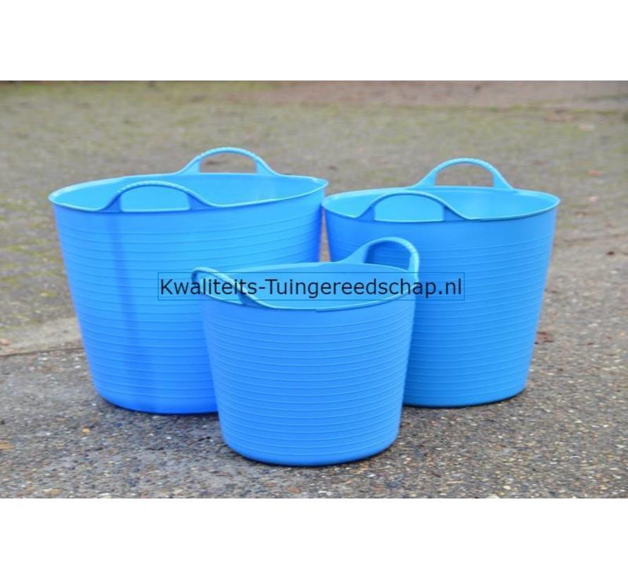Tub-Trug -Set-14-26-42 Liter Blauw The Original