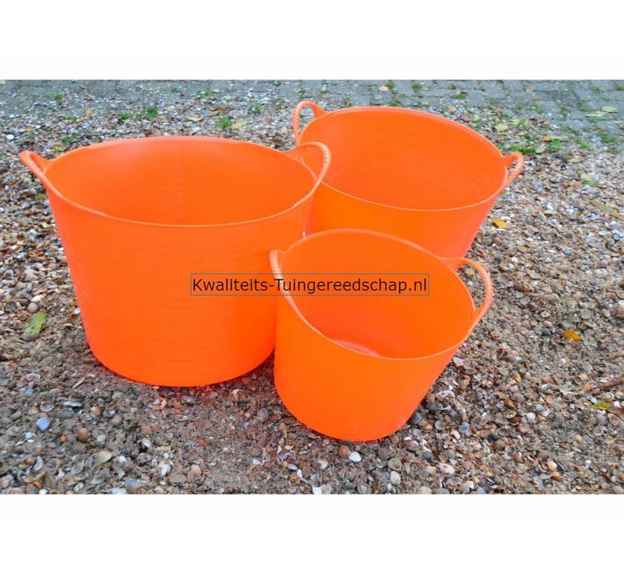 Tub-Trug-Set-14-26-42 Liter Oranje The Original