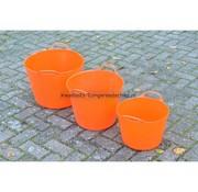 Red Gorilla Tub-Trugs Tub-Trug-Set-14-26-42 Liter Oranje The Original