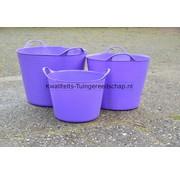 Red Gorilla Tub-Trugs Tub-Trug-Set-14-26-42 Liter Paars The Original