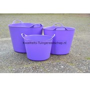 Tub-Trugs Tub-Trug-Set-14-26-42 Liter Paars The Original