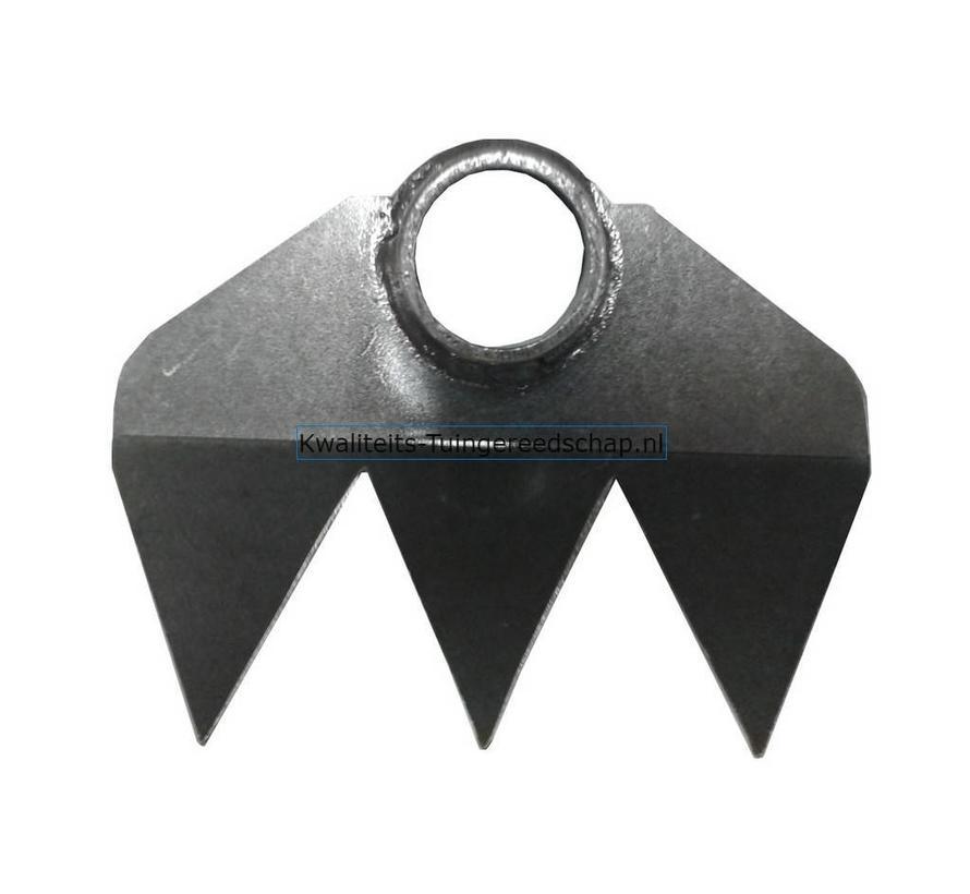Polet Traditional Handgesmede Hak 180 mm 3 Tanden met steel