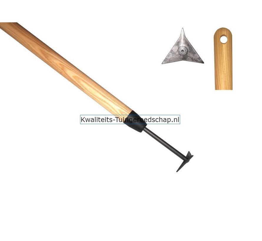 Handgesmede Voegenkrabber / Tegelritzer lange steel 1400 mm
