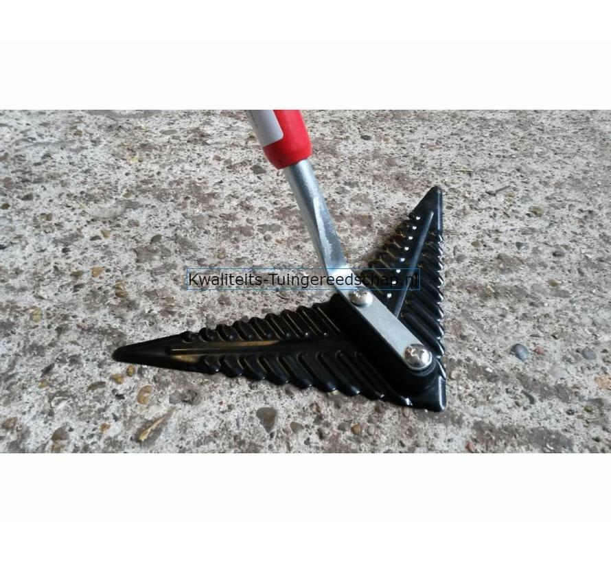 Vleugelschoffel Carbonstaal 220 mm met Steel 1500 mm