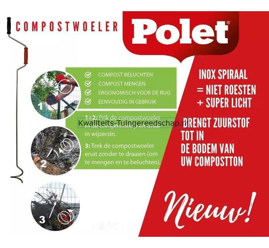 Compostwoeler Polet 120 cm Inox