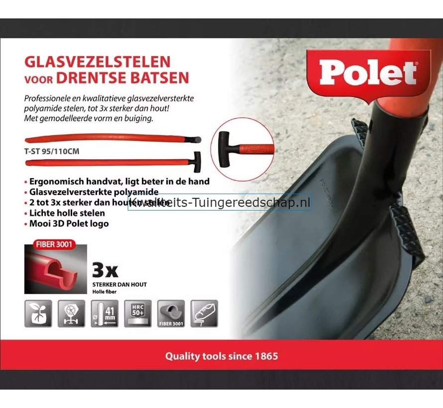 Bats Drents 00/35 T-Steel 95 cm  Fiber 3001 2 Voetsteunen