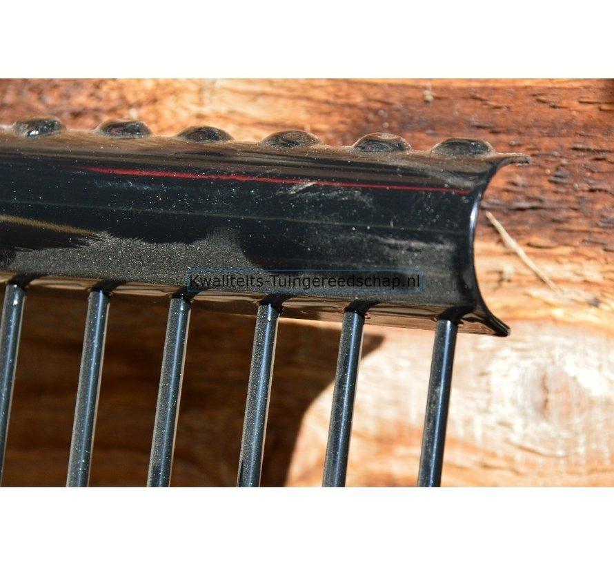 Paardenstalvork 10 Afgeronde Tanden met D - Steel