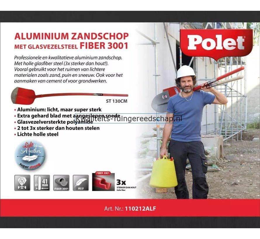Professionele Aluminium Zandschop Nr 2 Lange Fiber Steel