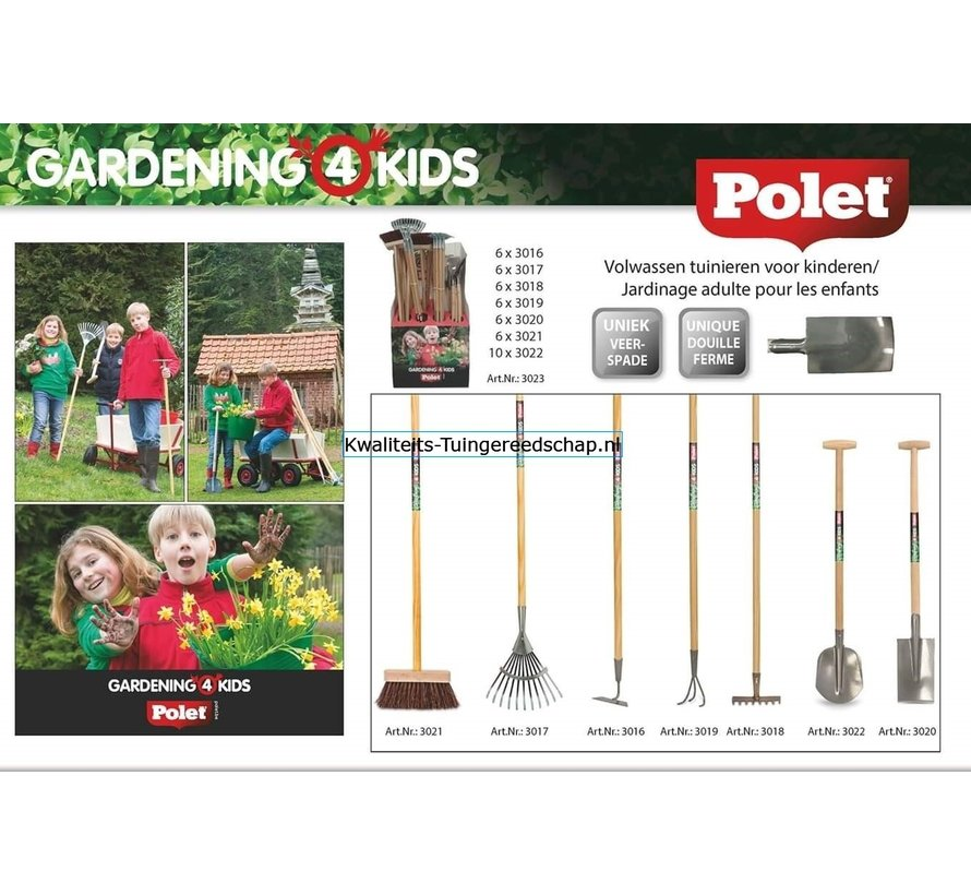 Hark  8 Tanden  Gardening 4 Kids middelgroot