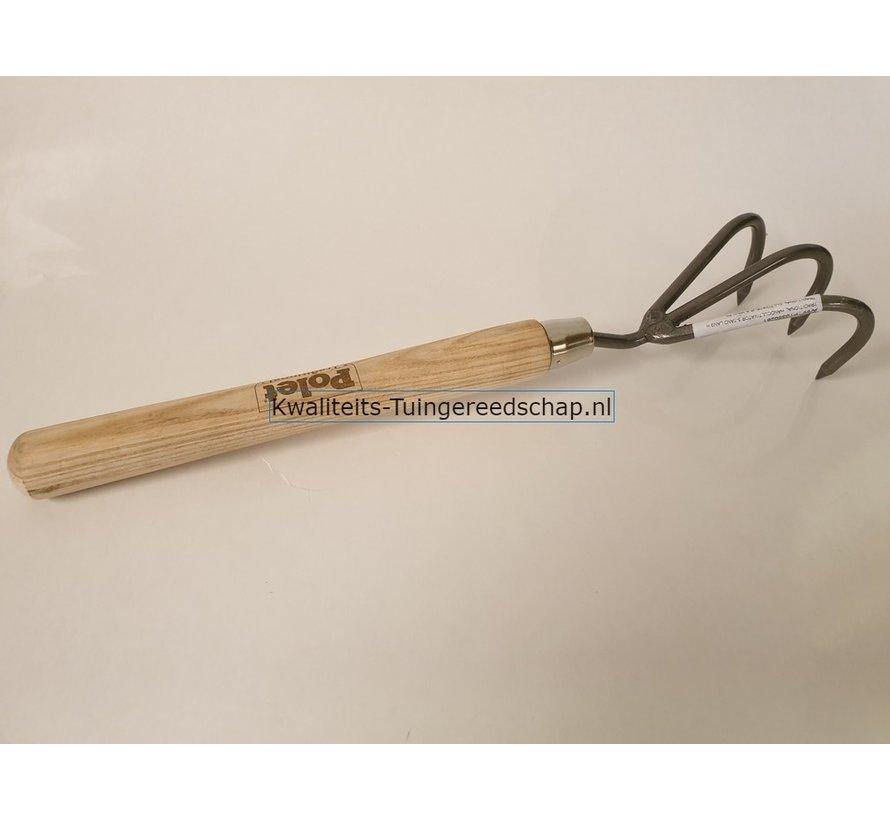 Handgesmede Handcultivator 3-Tand Lang Handvat