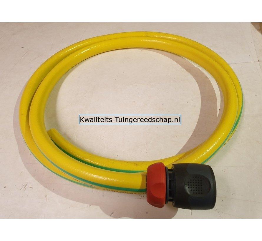 """Aansluitset 2 m  slang 5/8"""" kunststof koppeling"""