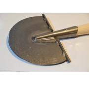 Traditional Polet Handgesmede Ronde Schietschop/Ronde Graskantsteker 20 cm met T-Steel