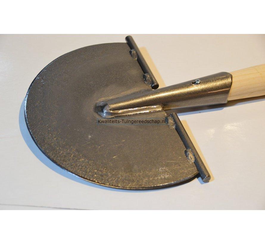 Handgesmede Ronde Schietschop/Ronde Graskantsteker 20 cm met T-Steel