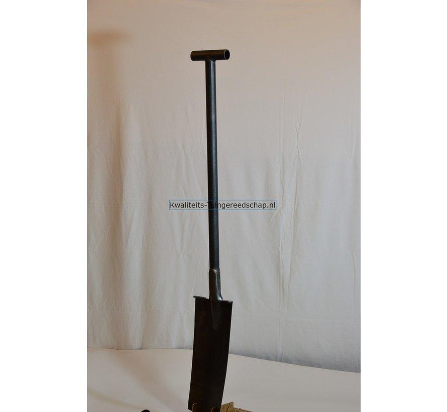 Handgesmede Grondwerk spade 380/140 2 Voetsteunen T-Steel Staal 122cm